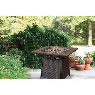 Uniflame Tile Mantel Steel Propane Fire Pit Table