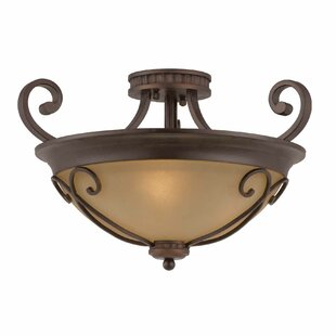 Greendale 3-Light Semi Flush Mount by Fleur De Lis Living