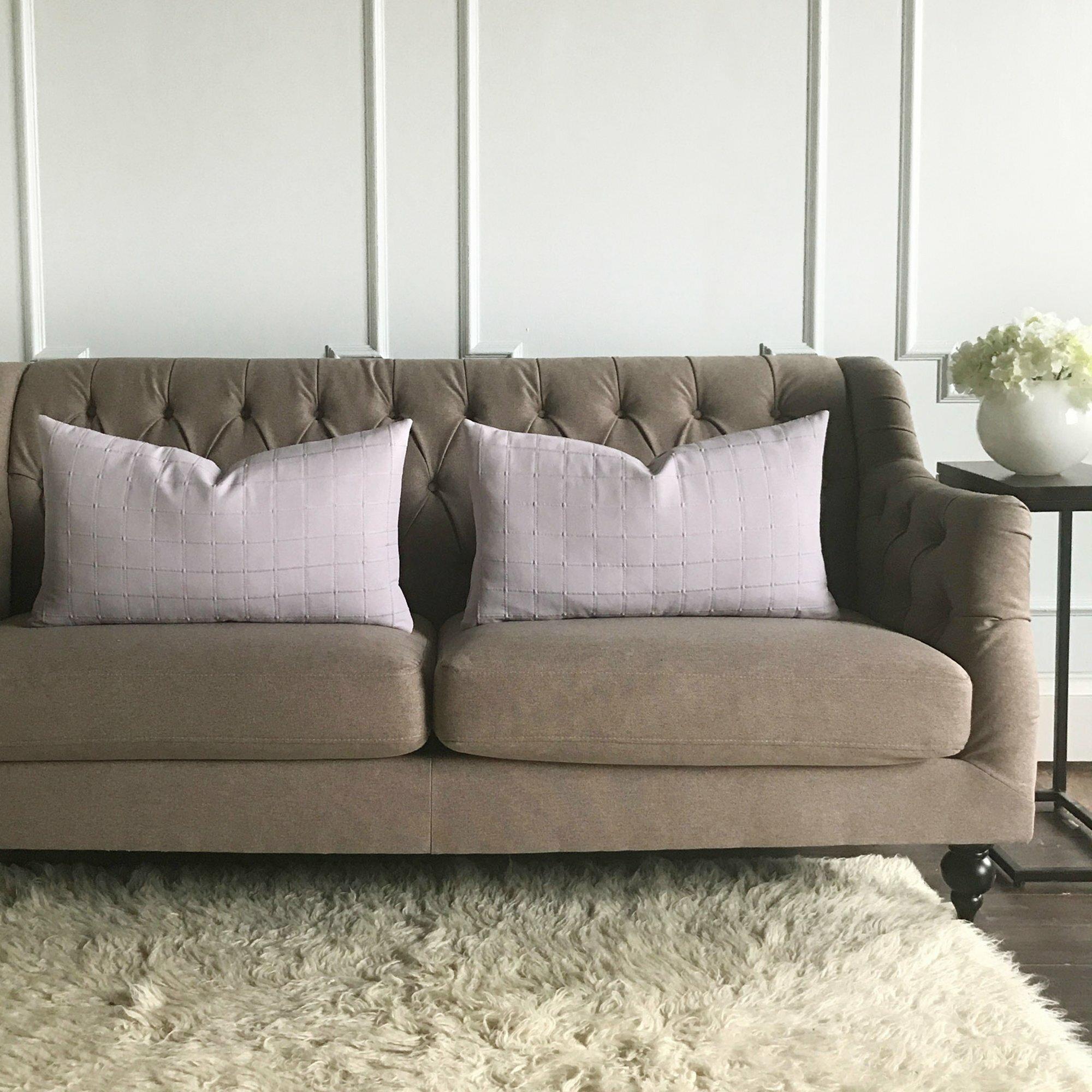 Gracie Oaks Hallman Pintuck Box Pleated Decorative Pillow Cover   Wayfair