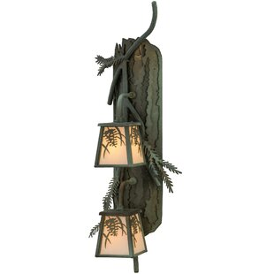 2-Light Outdoor Wall Lantern by Meyda Tif..
