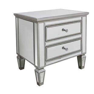 House of Hampton Guadeloupe 2 Drawer Mirrored Chest