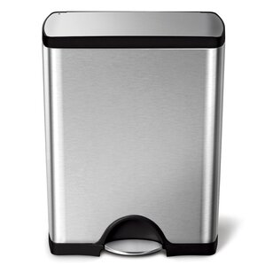 Step On Stainless Steel 13 Gallon Trash Can