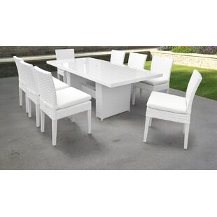 Monaco 9 Piece Dining Set with Cushions by TK Classics