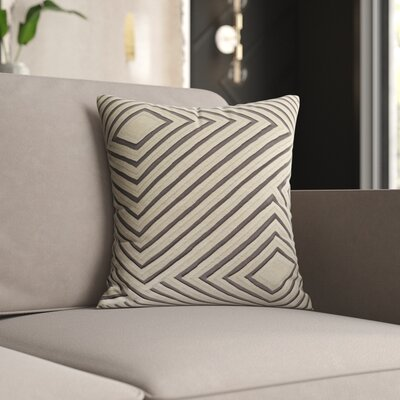 Mercury Row Keese Cotton Pillow Cover Size: 18 H x 18 W x 1 D, Color: Gray