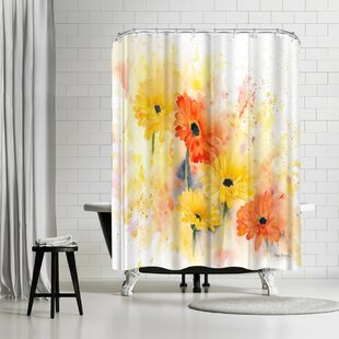 Rachel McNaughton Gerbera Single Shower Curtain