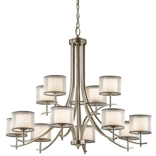 Latitude Run Ronald 12-Light Shaded Chandelier