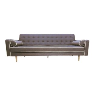 Top Reviews Clarissa 2 Tone Mid Century Sleeper Sofa Langley Street