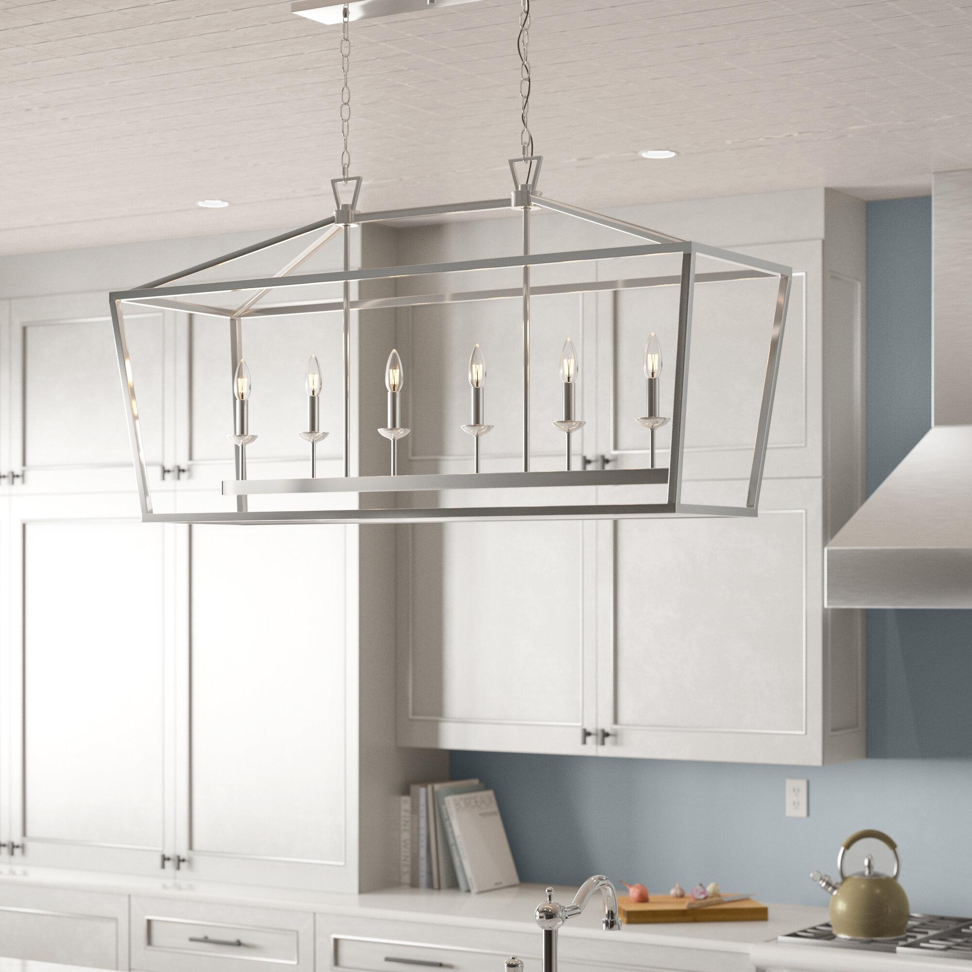 Delon 8 - Light Kitchen Island Linear Pendant
