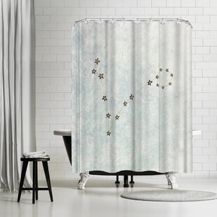 Leah Flores Pisces Single Shower Curtain
