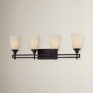 Latitude Run Simpson 4-Light Glass Vanity Light
