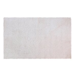 Hand-Woven Shag White Area Rug