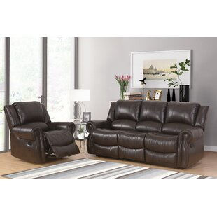 Digiovanni Faux Leather Reclining Living Room Set by Red Barrel Studio