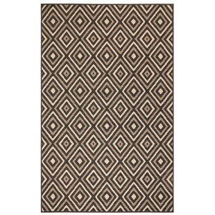 Corr Nested Diamond Black/Ivory Indoor/Outdoor Area Rug