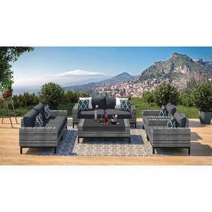 Jacobs 7 Piece Sofa Seating Group with Cushions