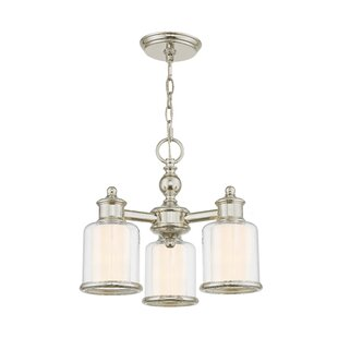 Lisle 3-Light Shaded Chandelier by Red Barrel Studio