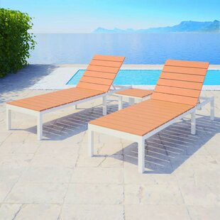 Huck Sun Lounger Set With Table By Sol 72 Outdoor