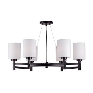Abrego 6-Light Shaded Chandelier by Latitude Run