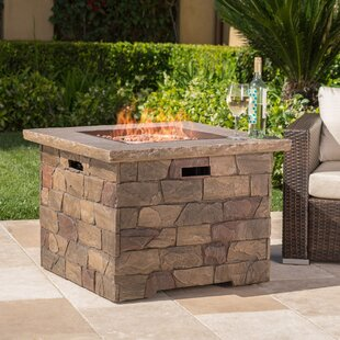 Leopold Stone Propane Fire Pit Table by 17 Stories Best