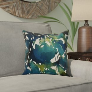 Kam Abstract Floral Throw Pillow