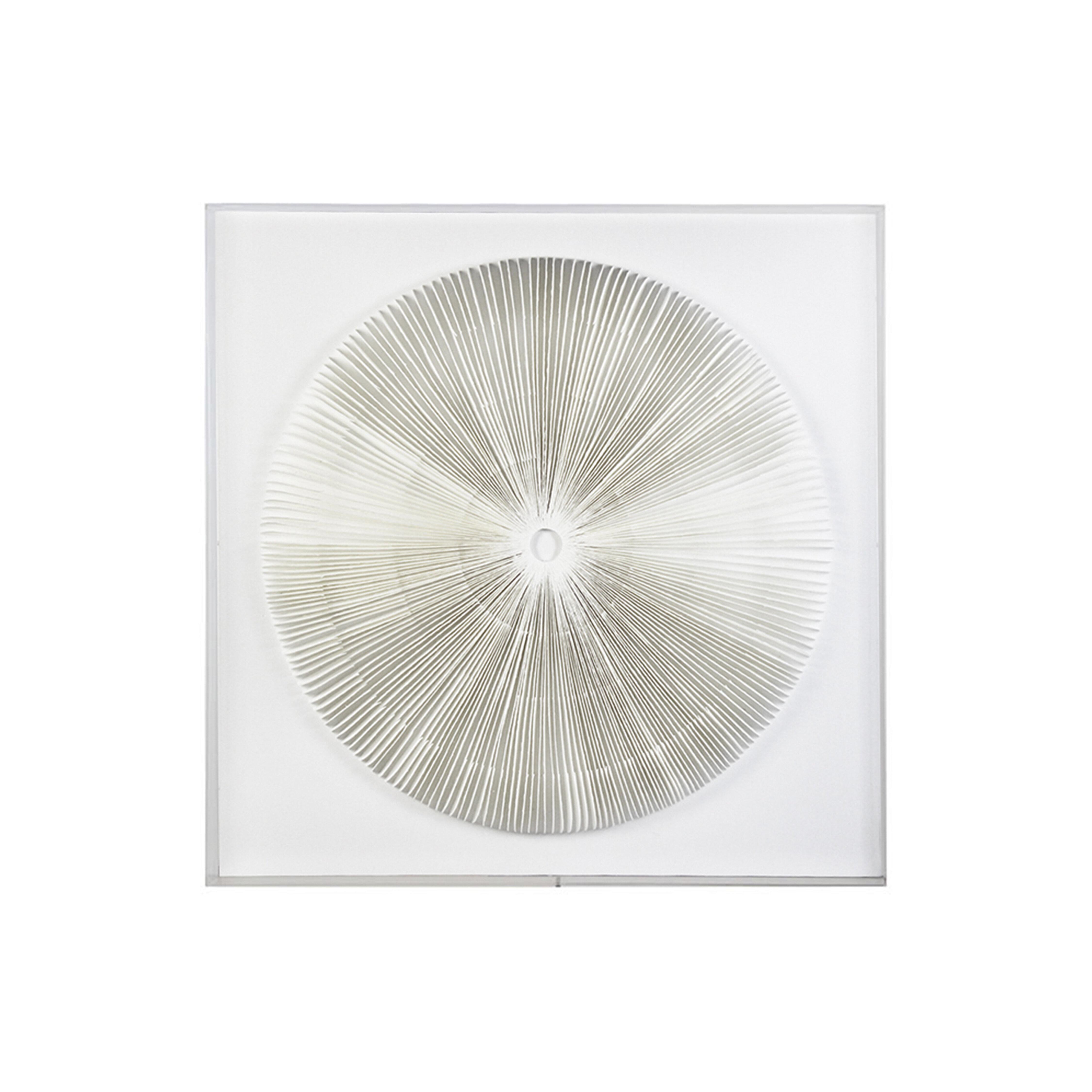 Dakota Fields Round Paper Art With Acrylic Frame Wall Decor Wayfair