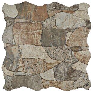 Atticas Stone Look 17.75 inch  x 17.75 inch  Ceramic Field Tile