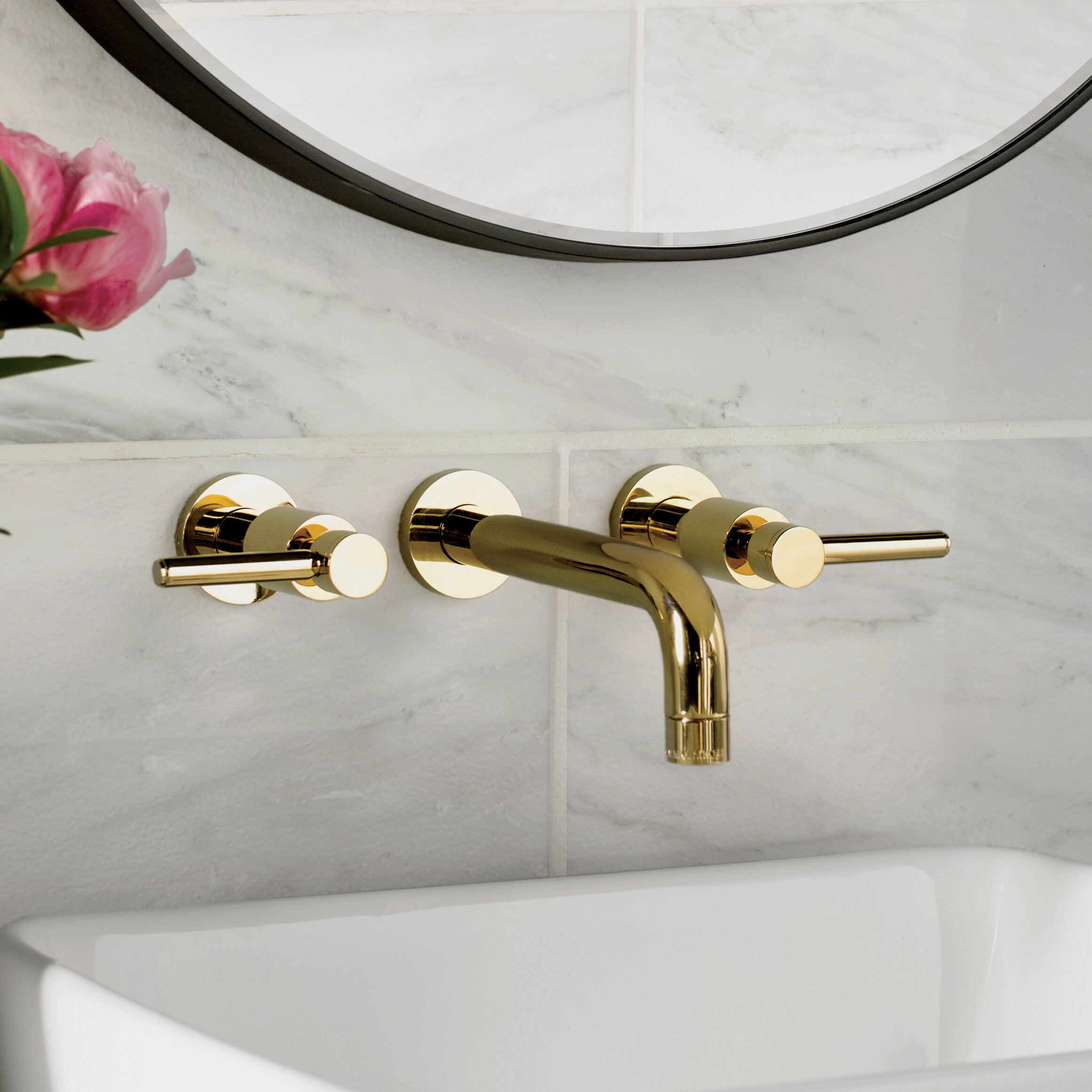 Image of: Wall Mounted Bathroom Sink Faucets You Ll Love In 2020