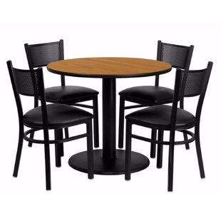 Mauro Round Laminate 5 Piece Dining Set