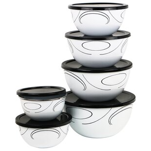 Simple Lines 6 Container Food Storage Set