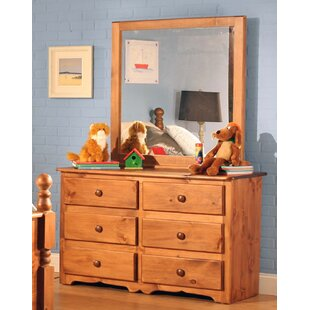 Chelsea Home Furniture Conway 6 Drawer Double Dresser with Mirror Image