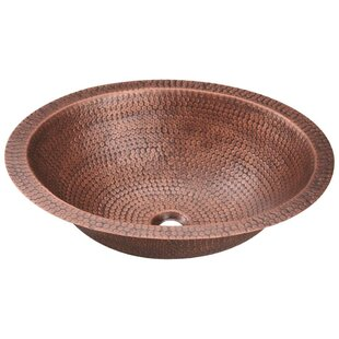 MR Direct Copper Oval Dual Mount Bathroom Sink