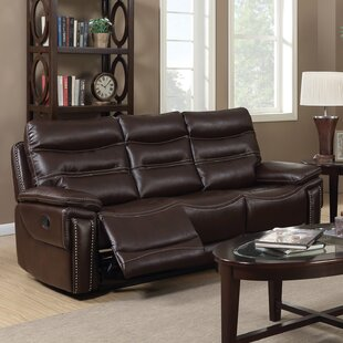 Adcox Leather Reclining Sofa by Red Barrel Studio