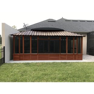 Brentwood Backyard Studio 11.5 ft. x 19.5 ft. Solid Wood Storage Shed Gazebo by Westview Manufacturing