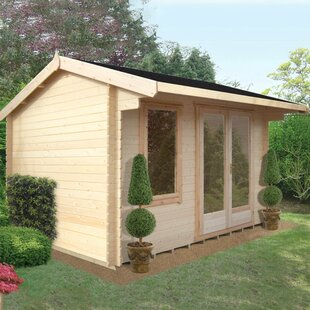 Plumley 12 X 16 Ft. Tongue & Groove Log Cabin By Sol 72 Outdoor