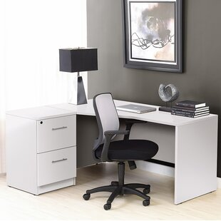 Haaken Furniture Pro X 2 Piece L-shape Desk Office Suite