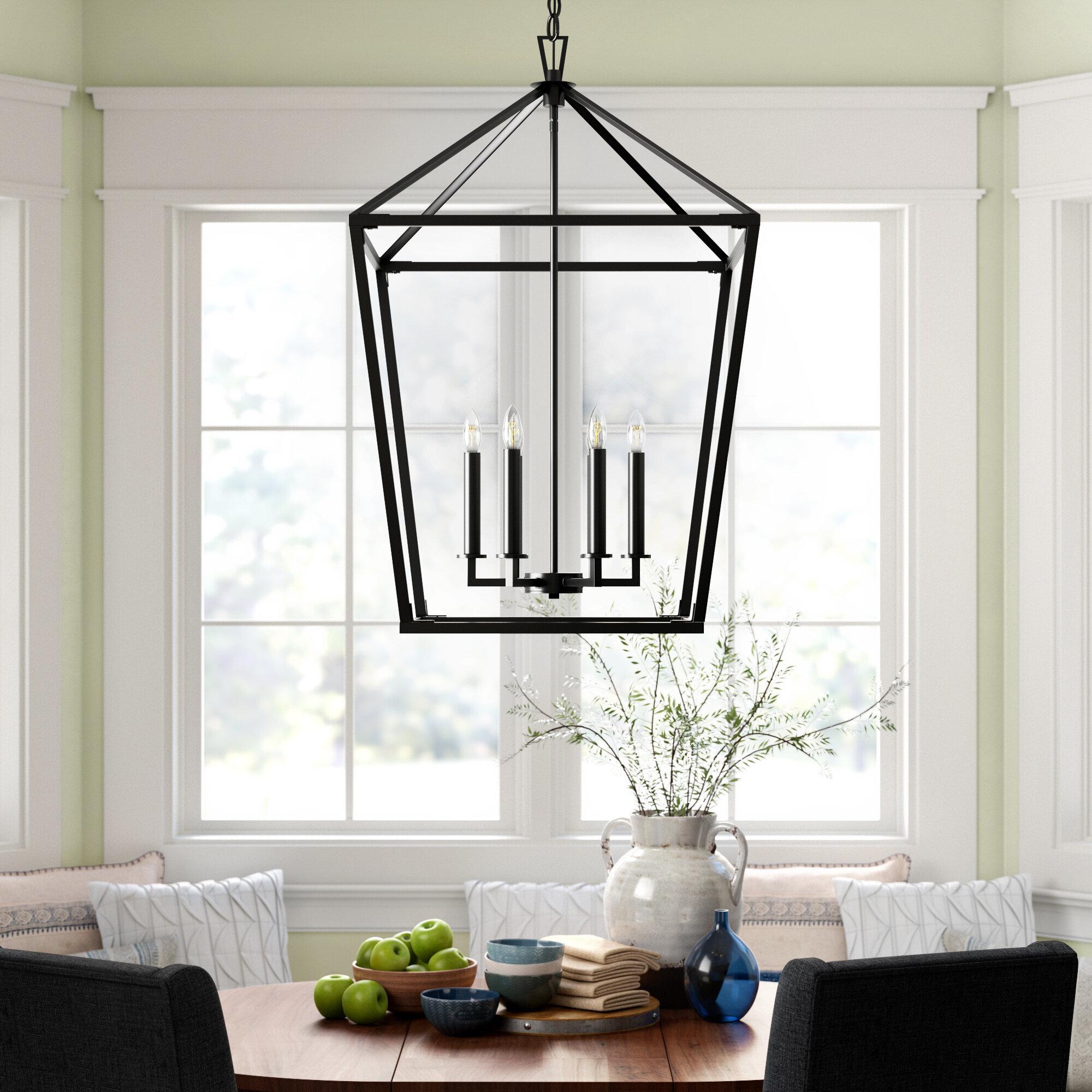 Israel 6 Light Lantern Geometric Chandelier Reviews Birch Lane