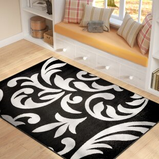 Big Save Roni Black/Gray Area Rug By Winston Porter