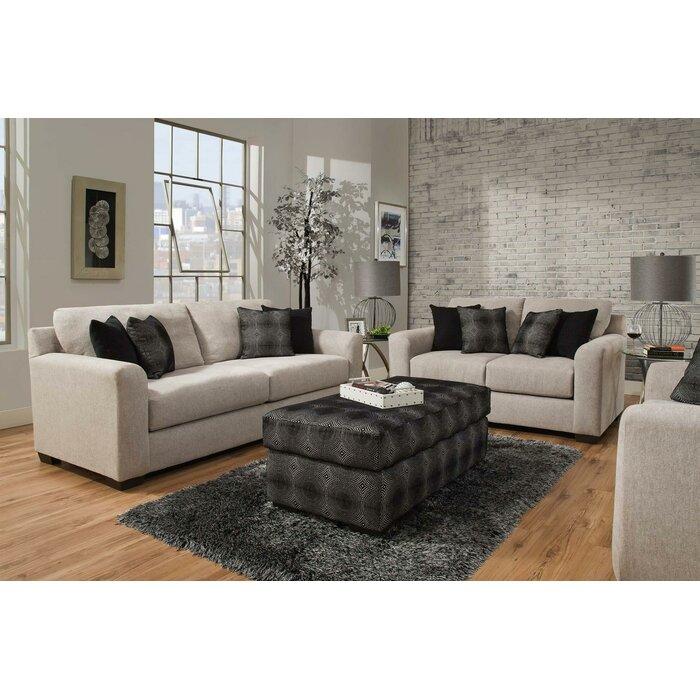 Davy 3 Piece Living Room Set