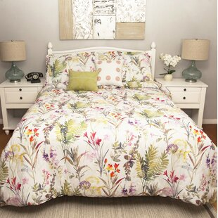 August Grove Mulkey 100% Cotton 5 Piece Reversible Comforter Set