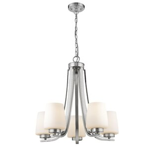 Paulus Contemporary 5-Light Shaded Chandelier by Ebern Designs