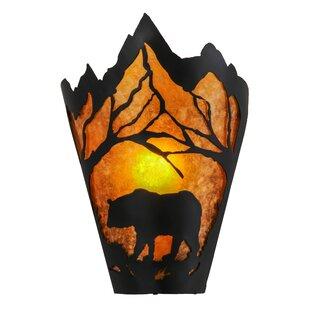 1 Light Bear At Dawn Wall Sconce