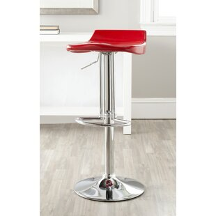 Rafaela Adjustable Height Swivel Bar Stool Orren Ellis