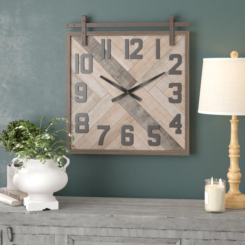 Allport Modern Square Analog Wall Clock