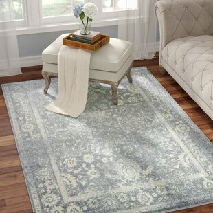 Howton Blue Gray/Off-White Ivory Area Rug by Laurel Foundry Modern Farmhouse