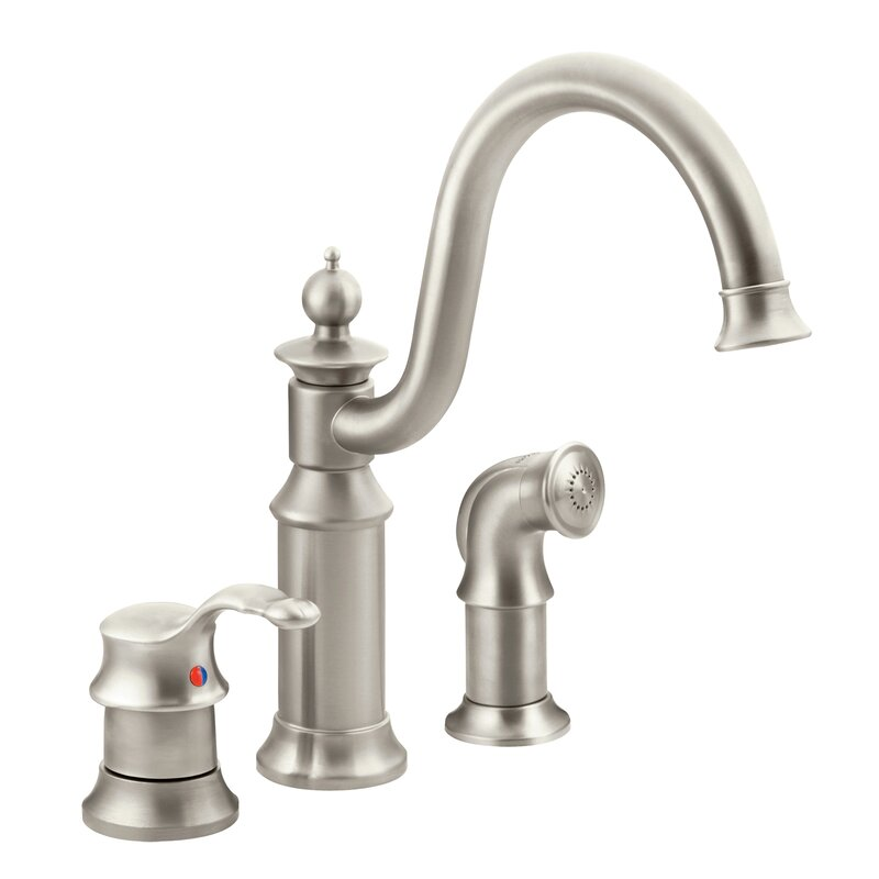 S711orb Csl Moen Waterhill Single Handle Kitchen Faucet With Side Spray And Duralock Reviews