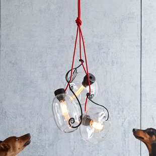 3-Light Cluster Pendant by Hubbardton Forge