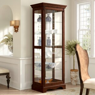 Leafwood Lighted Curio Cabinet