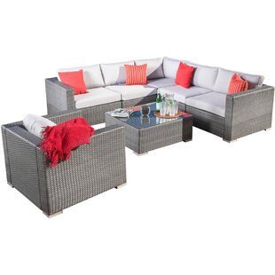 Cabral 7 Piece Sectional Set with Cushions