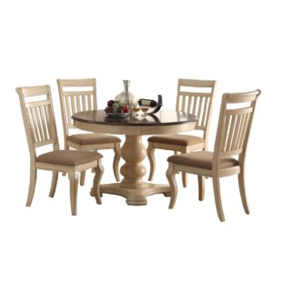One Allium Way Pinnock 5 Piece Dining Set
