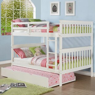 Best Reviews Chinnock Mission Full over Full Standard Bed with Trundle By Harriet Bee