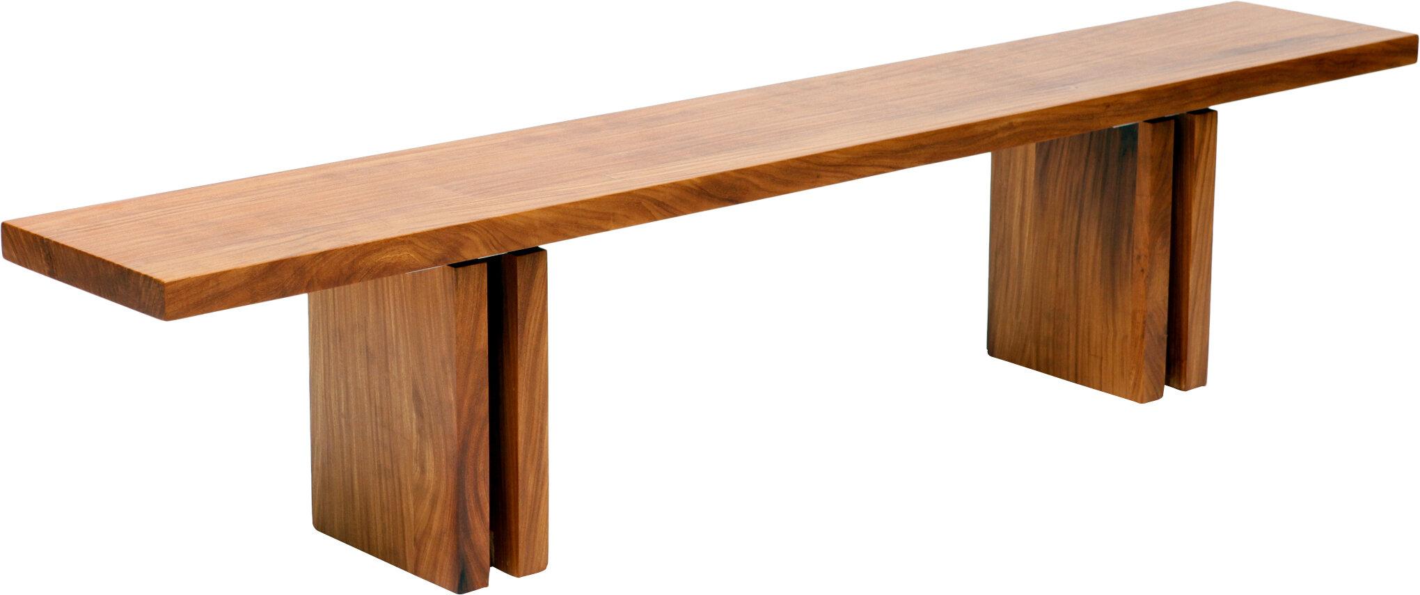 Artless Occidental Wood Bench Wayfair